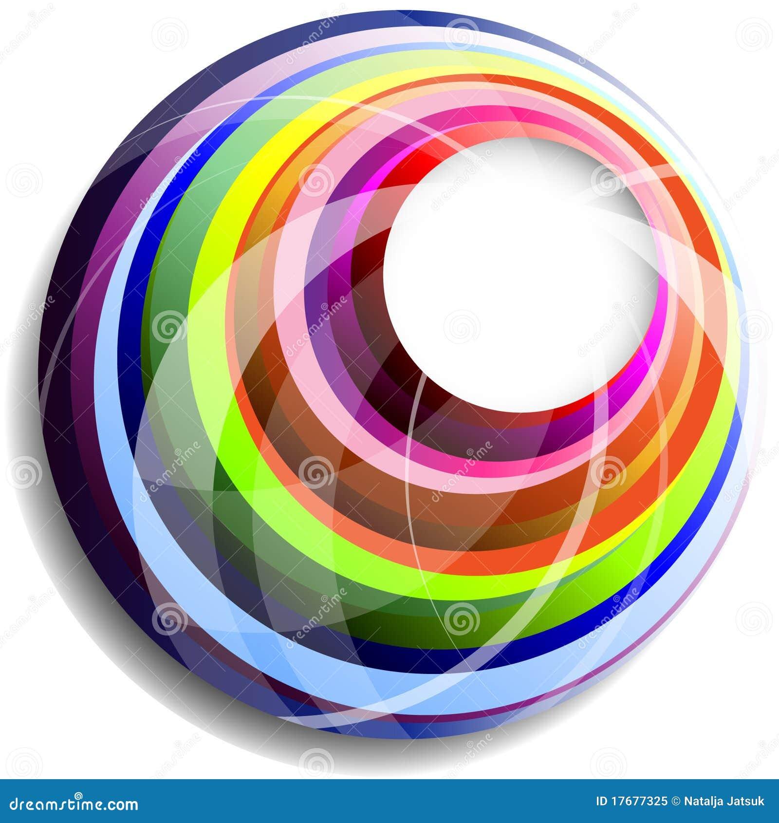 Okrąża kolorowego wektor