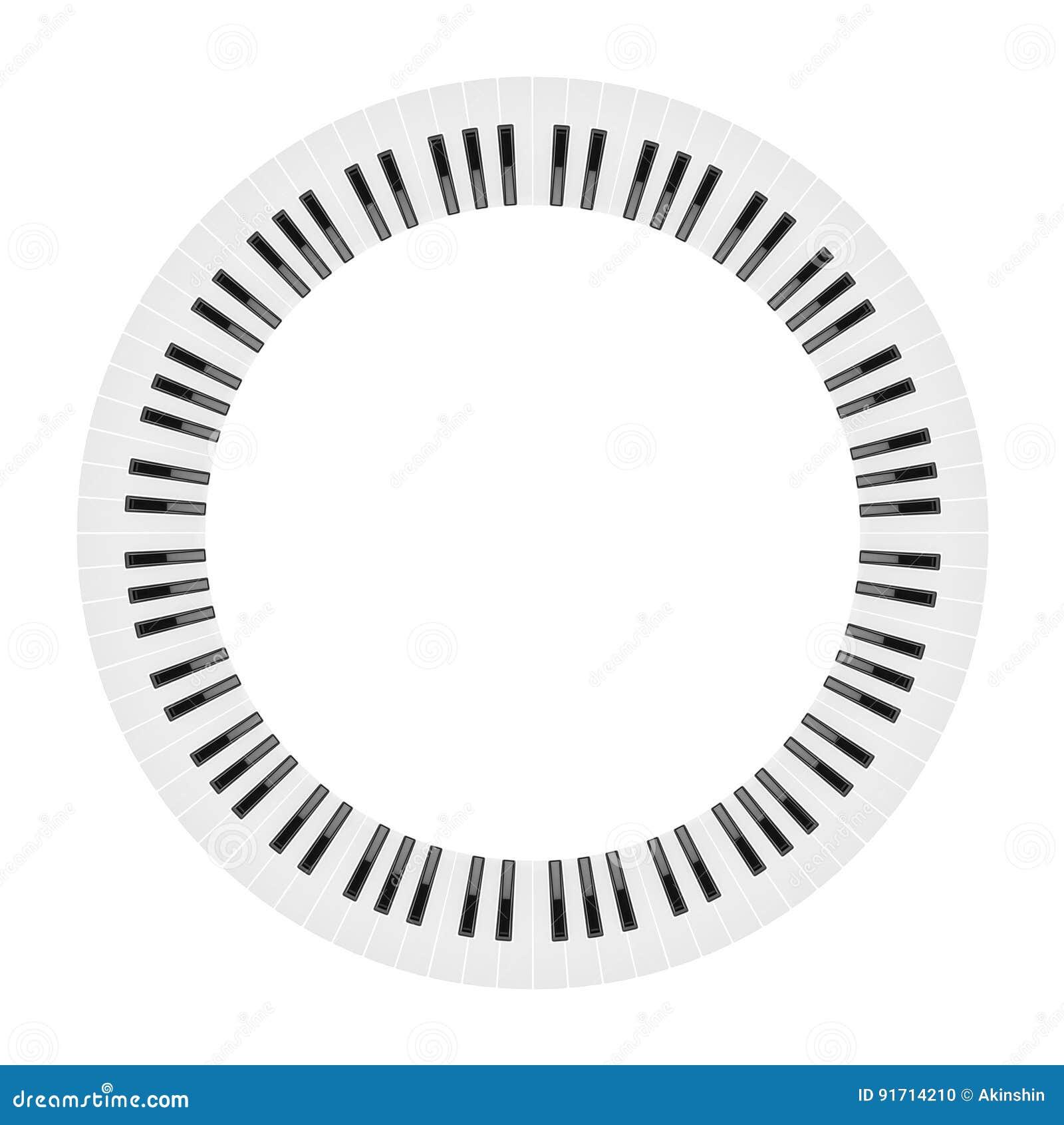 Okrąg fortepianowa klawiatura