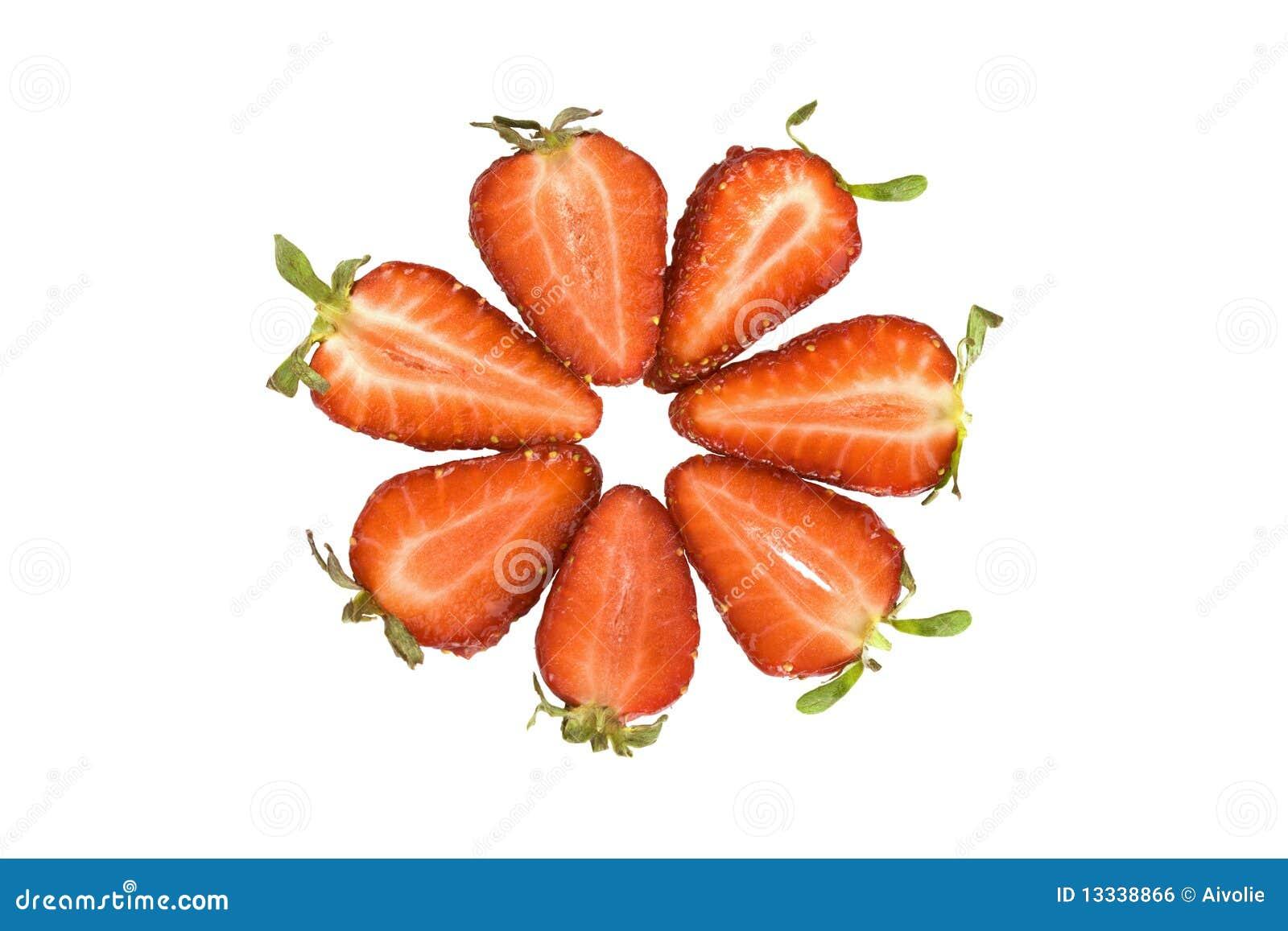 Okrąg pokrajać truskawki