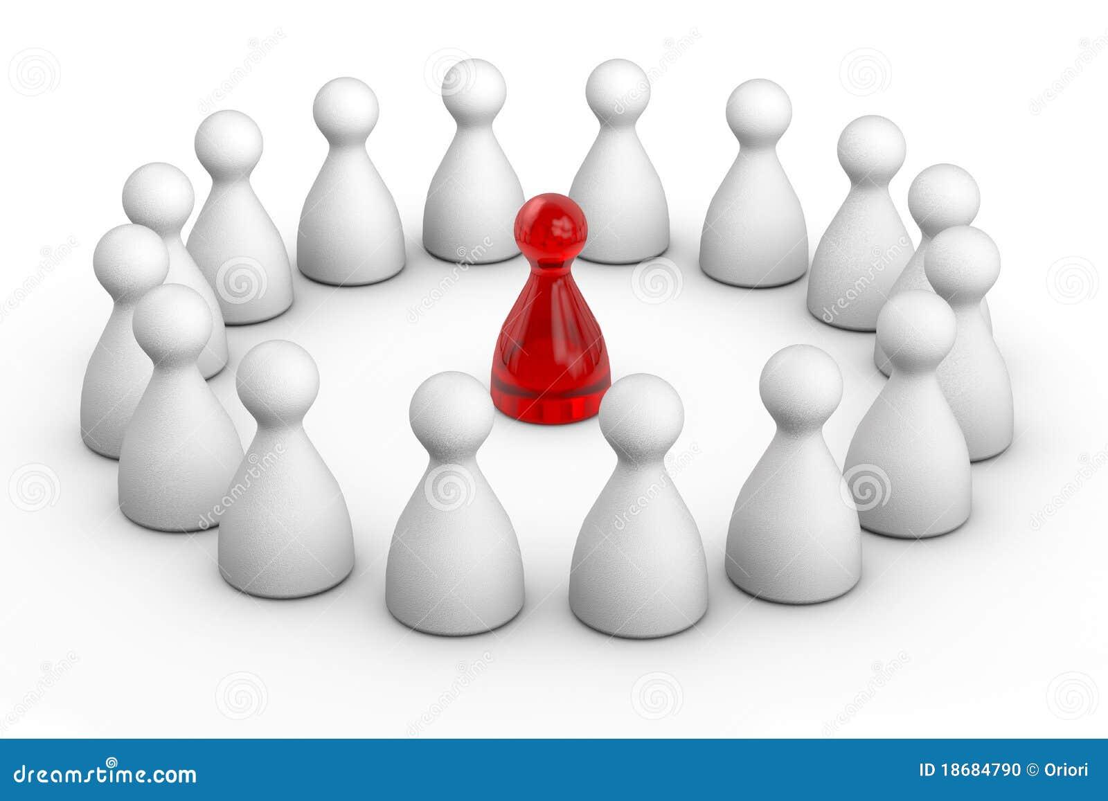 Okrąg postać lider czerwień