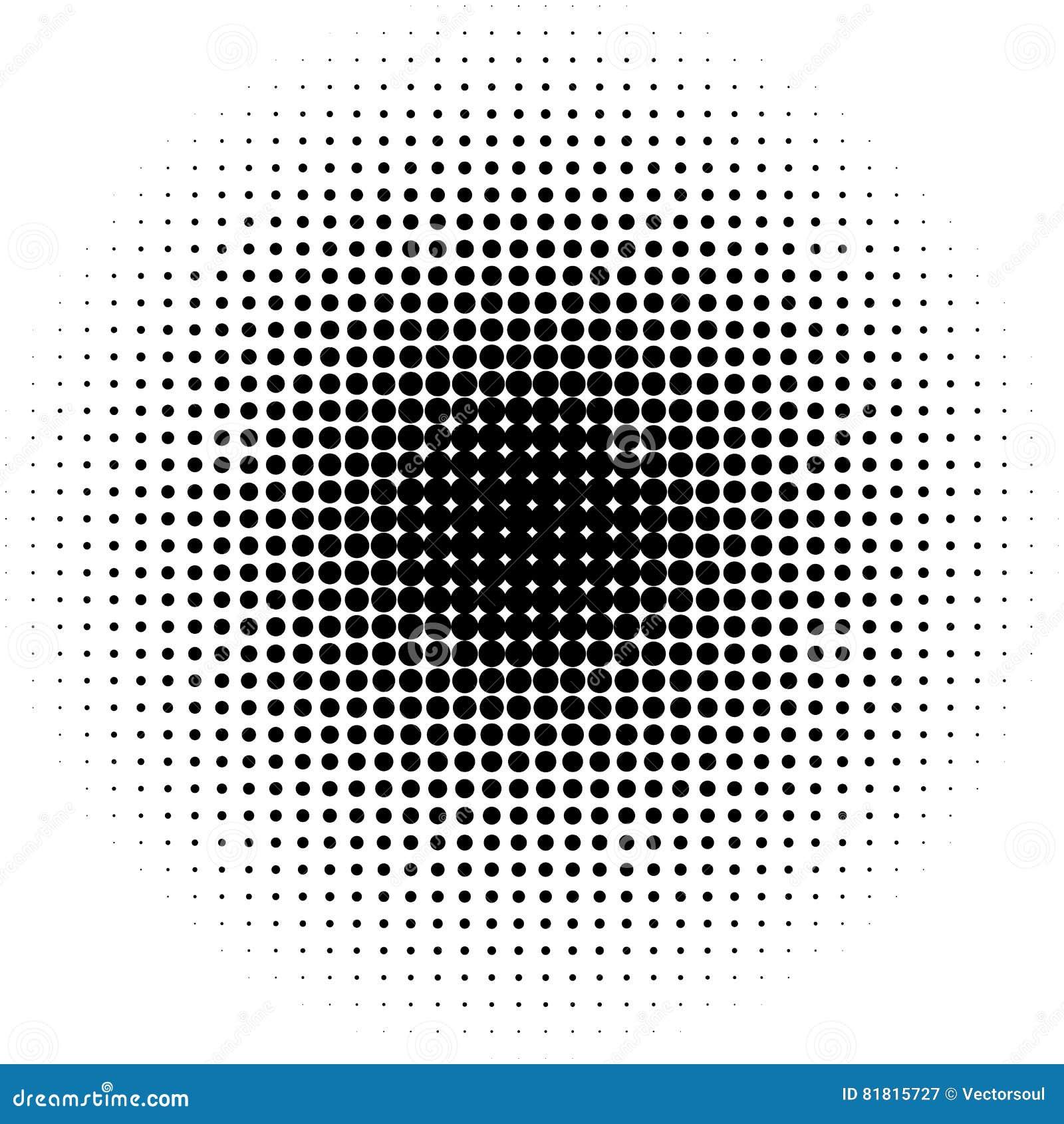 Okręgu halftone wzór, tekstura/ Monochromatyczne halftone kropki