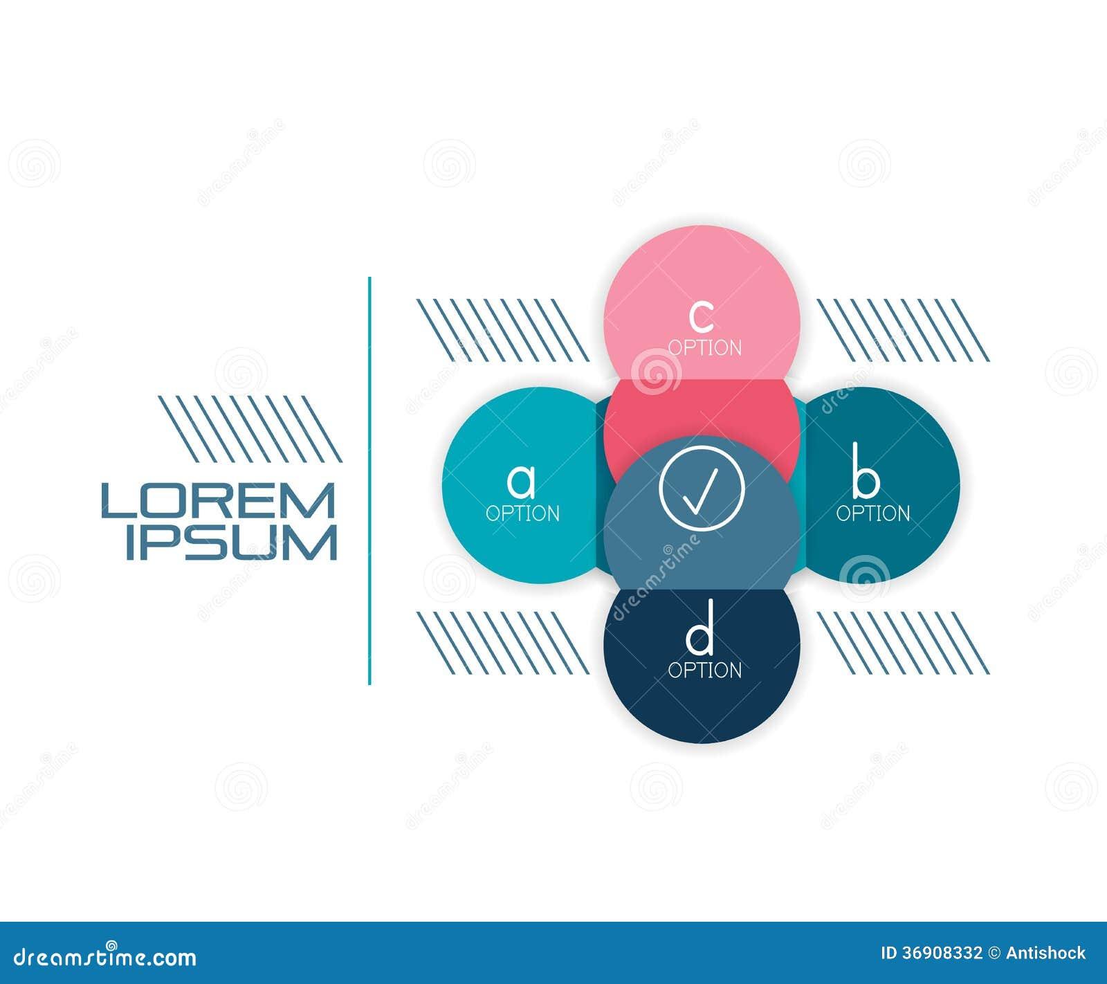 Okręgu kształta sztandaru infographic szablon