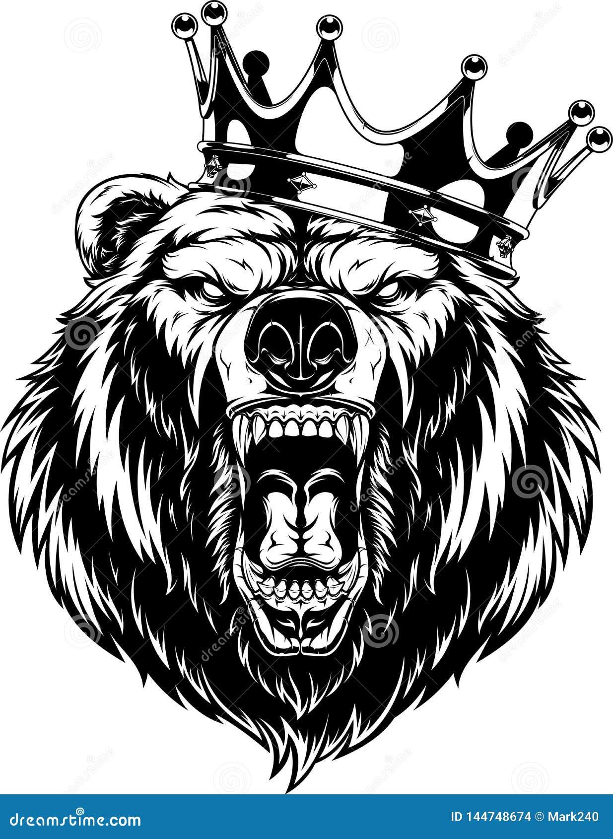 Okrutnie niedźwiedź w koronie