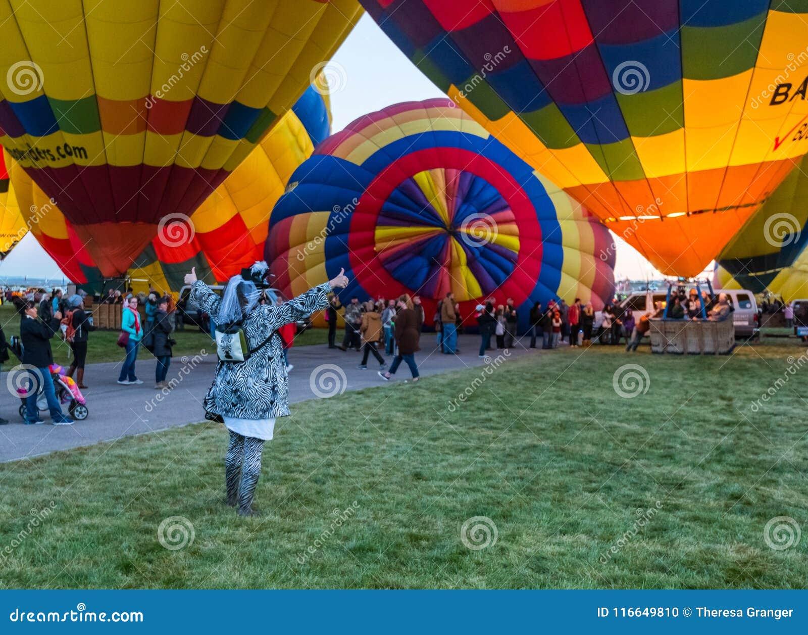 Oktober, 2017 Albuquerque, New Mexico; De Internationale Fiesta van de Hete Luchtballon