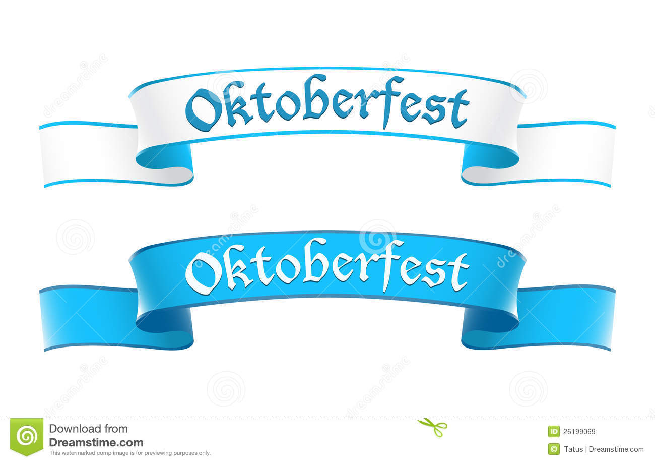 Oktoberfest Banners In Bavarian Colors Editorial Stock ...
