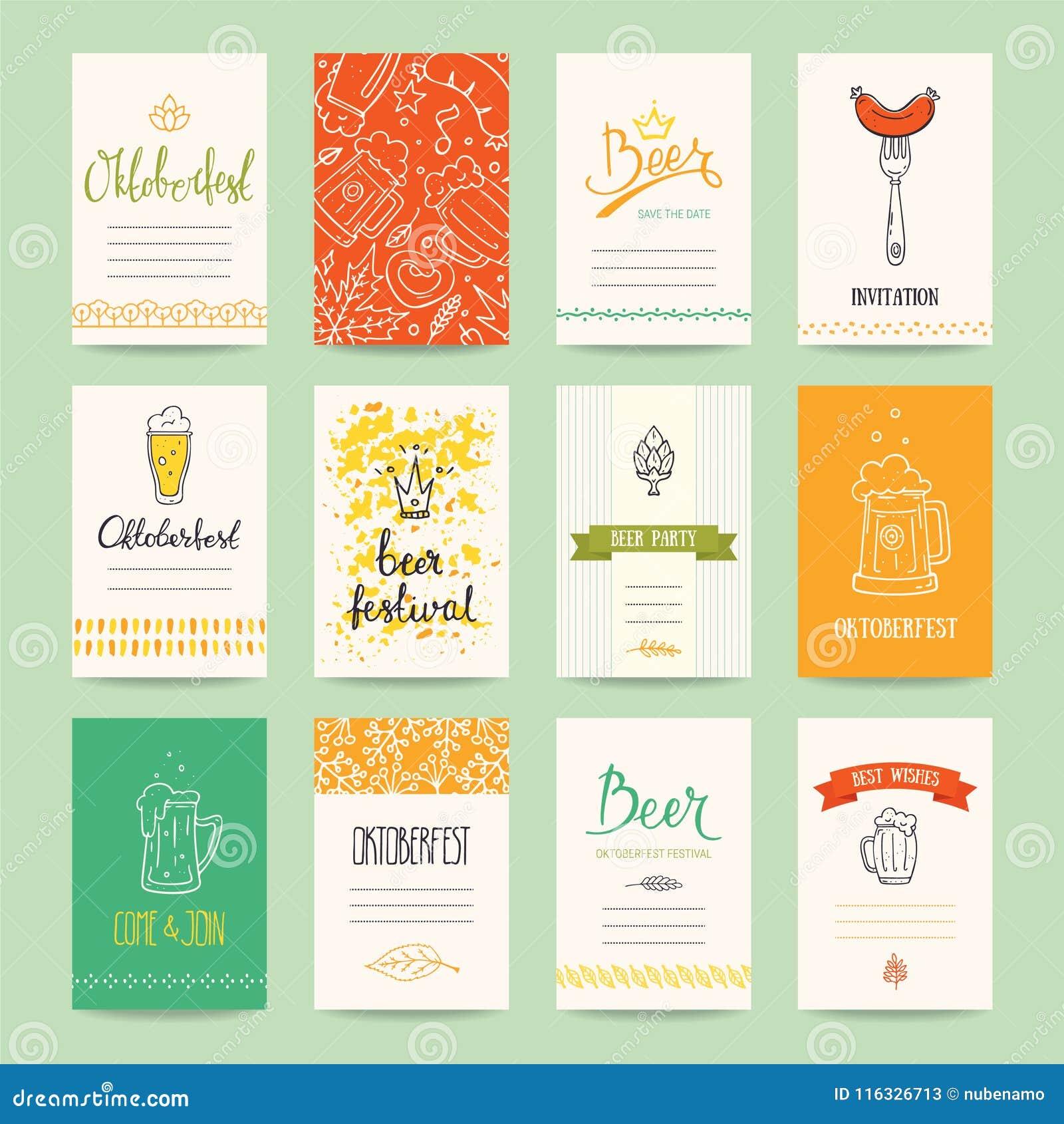 Oktoberfest Beer Festival Flyer Poster Template Stock Vector