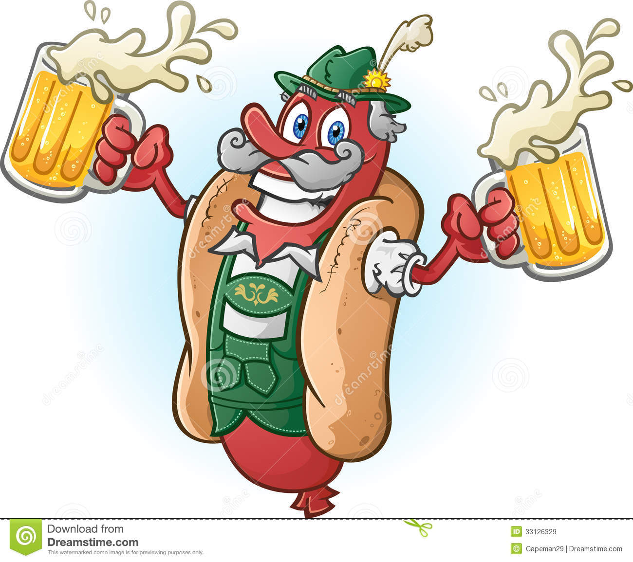 Beer And Hot Dog Pictures Free