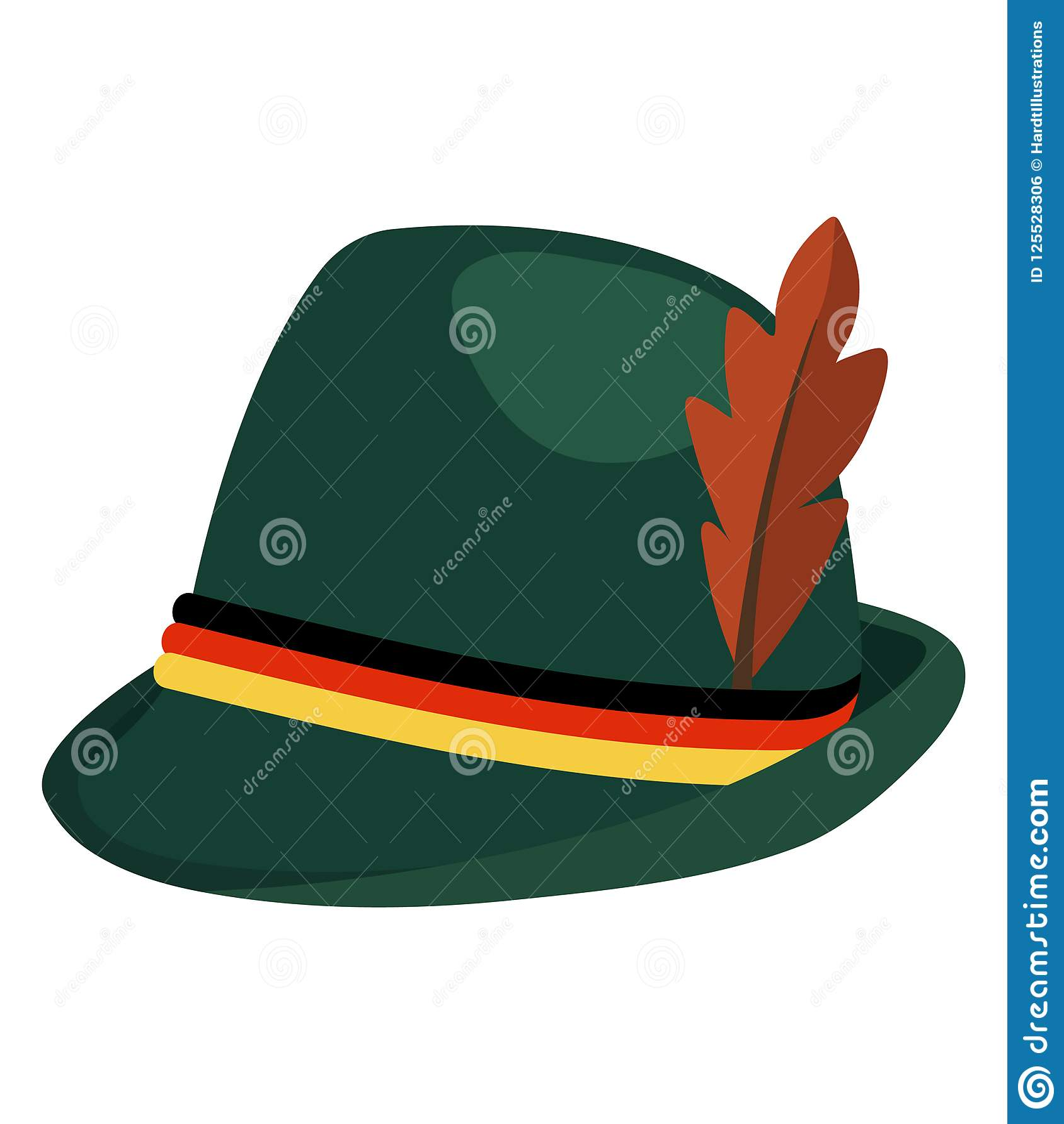 3c9d16ab167f6 Oktoberfest Green Alpine Hat Stock Vector - Illustration of cute ...