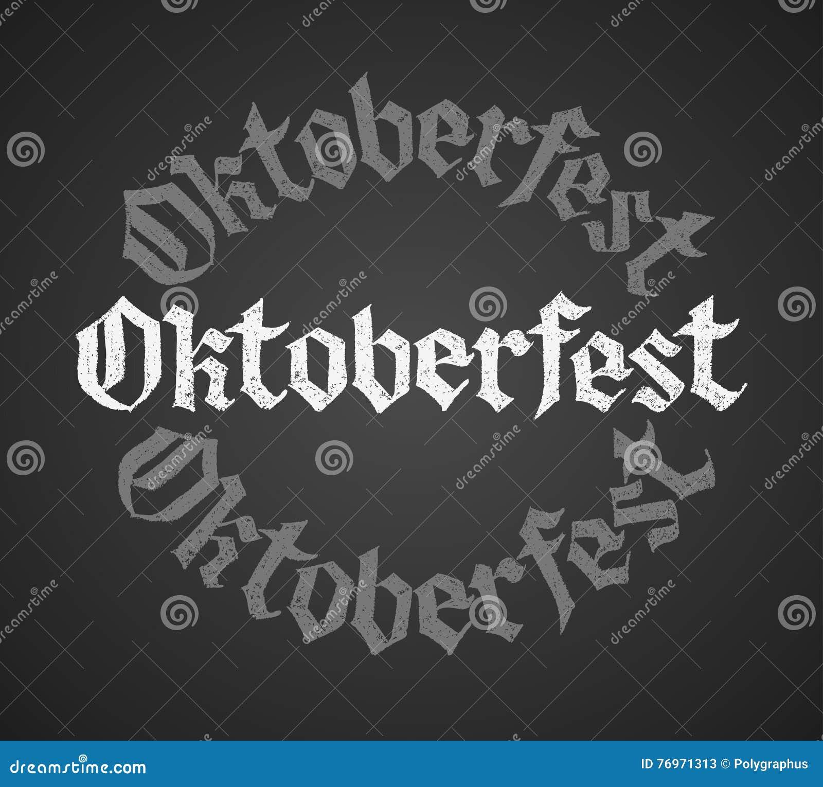 Oktoberfest-Kreidebeschriftung Einziges Wort