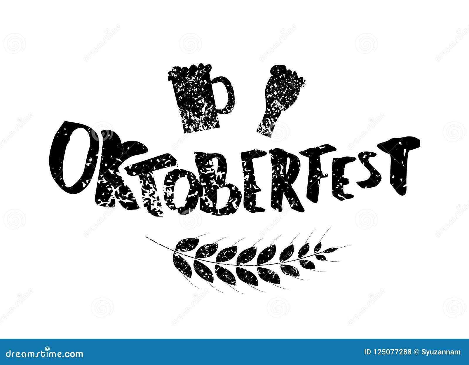 Oktoberfest lettering composition. Vector illustration.