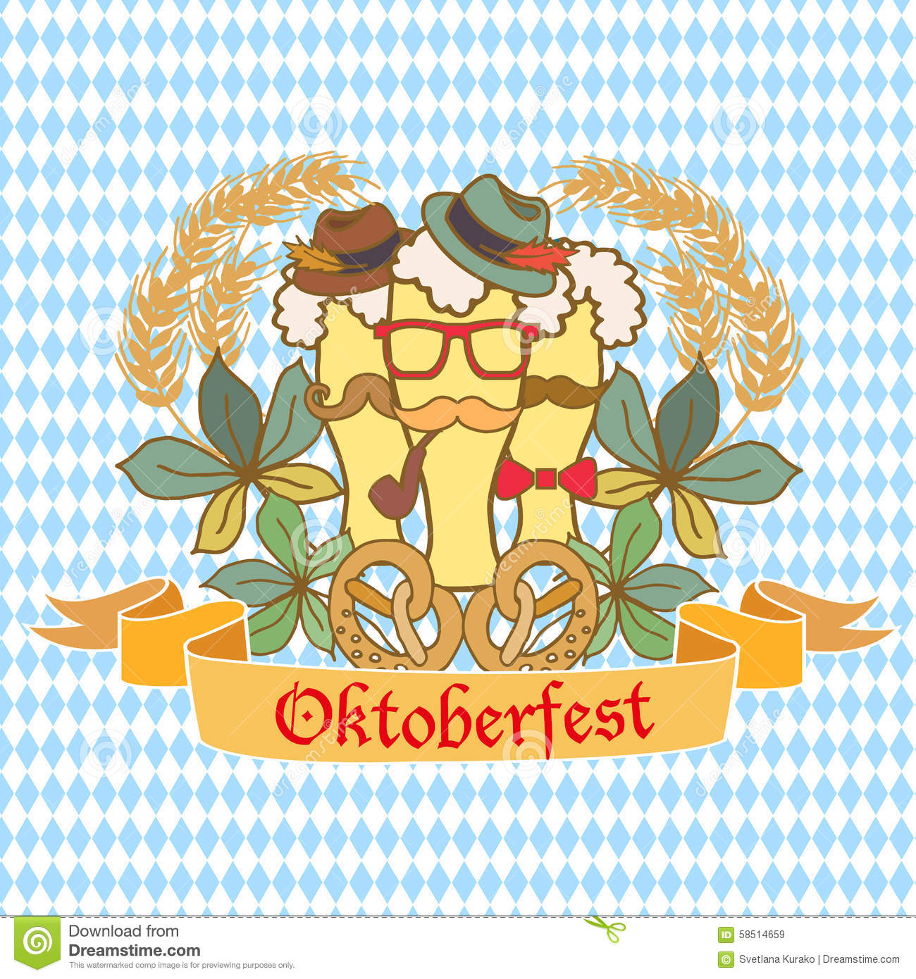 oktoberfest logo template with coat of arms editorial