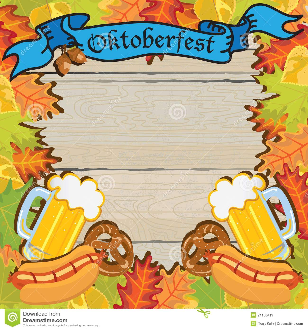 Oktoberfest Invitation Template | Oktoberfest Party Frame Invitation Poster Editorial Stock Image