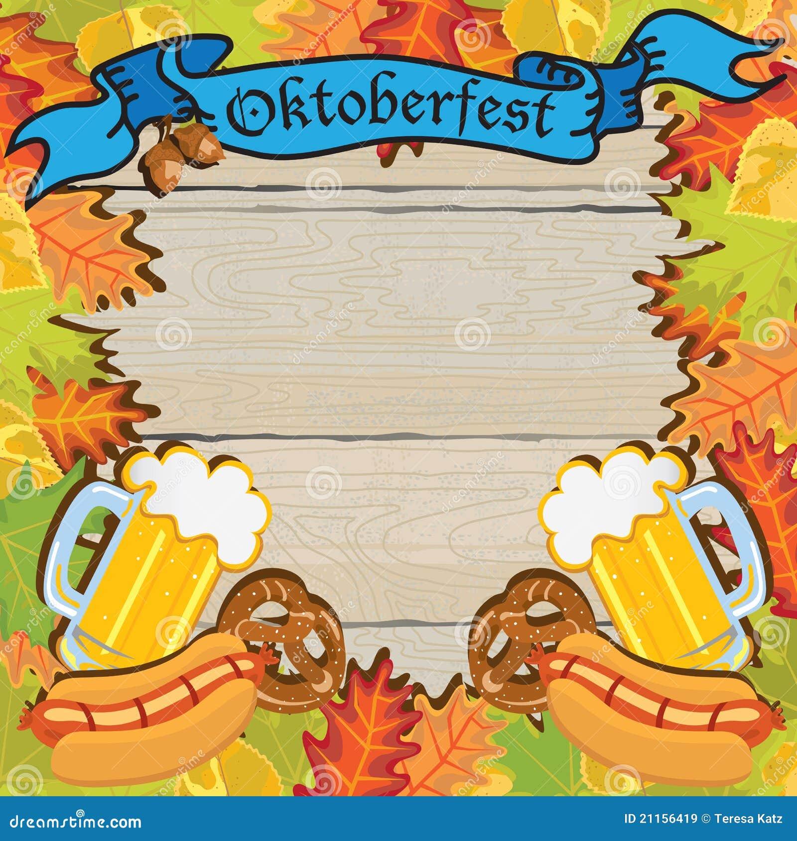Oktoberfest Party Frame Invitation Poster Editorial Image – Oktoberfest Party Invitations