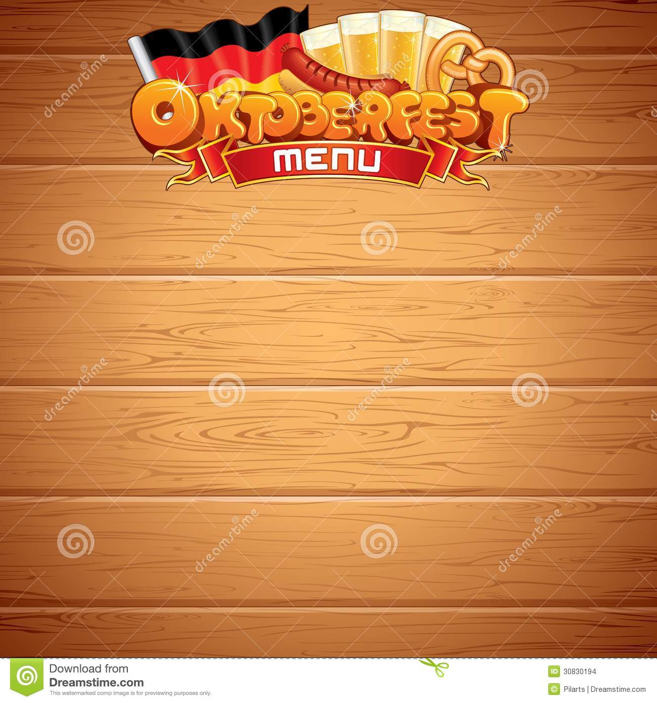 oktoberfest poster or menu template vector image editorial stock