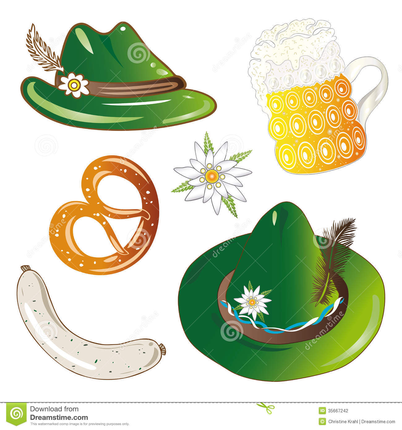 Oktoberfest set stock vector. Illustration of decoration ...