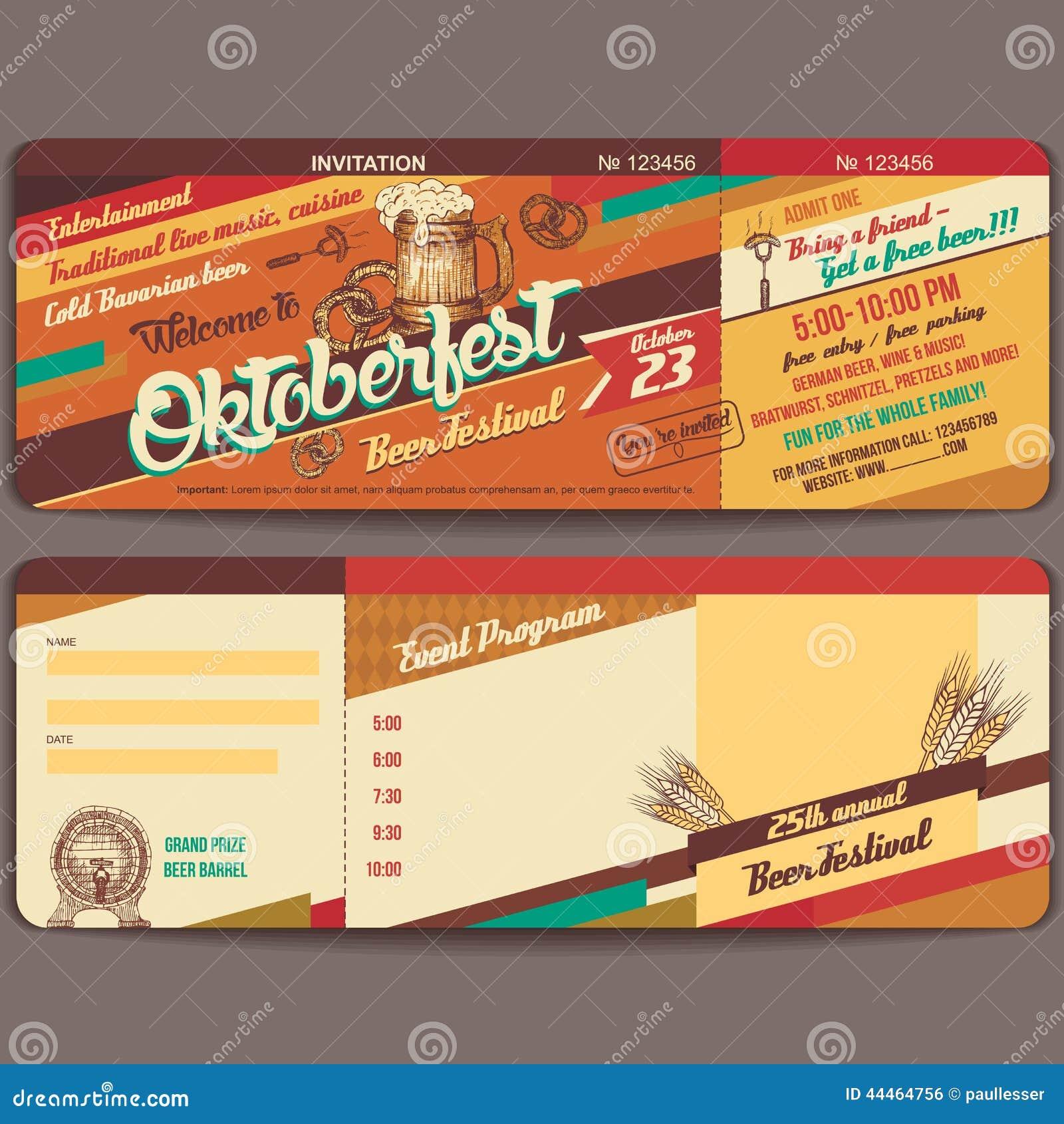 Oktoberfest Vintage Invitation Card Editorial Photo