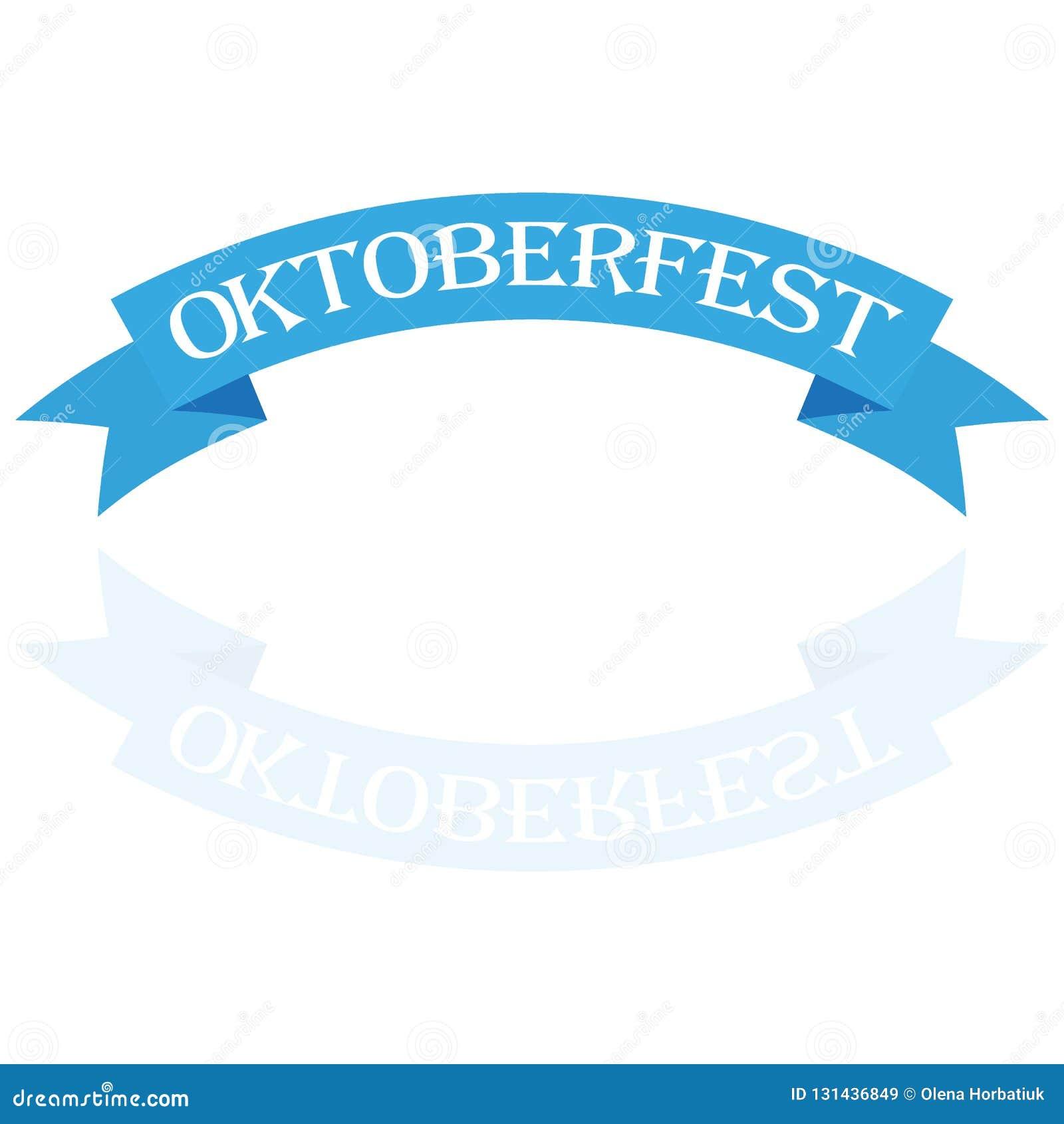 Oktoberfestbanners in Beierse kleuren vectorreeks Lint van het festival het witte en blauwe Oktoberfest van Beieren Het ontwerp n