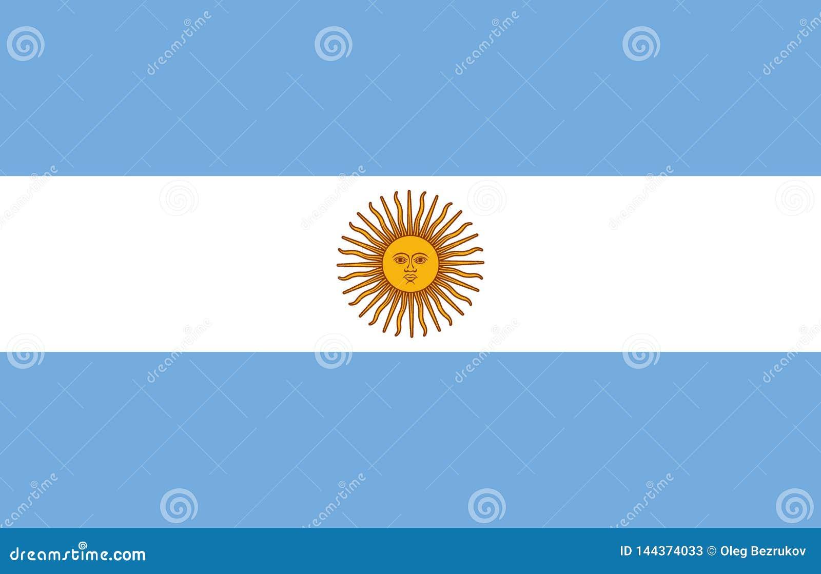 Okulary argentina stylu do wektora bandery Oficjalna proporcja Koryguje kolory wektor