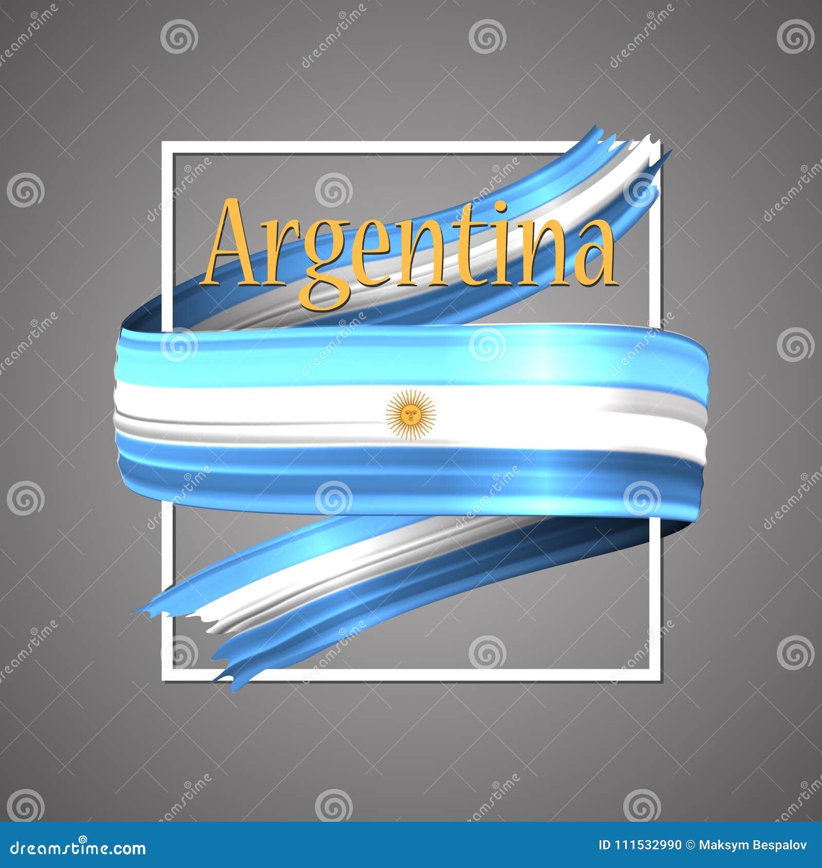 Okulary argentina stylu do wektora bandery Oficjalni obywatelów kolory Argentyński 3d realistyczny faborek Falowanie chwały flaga
