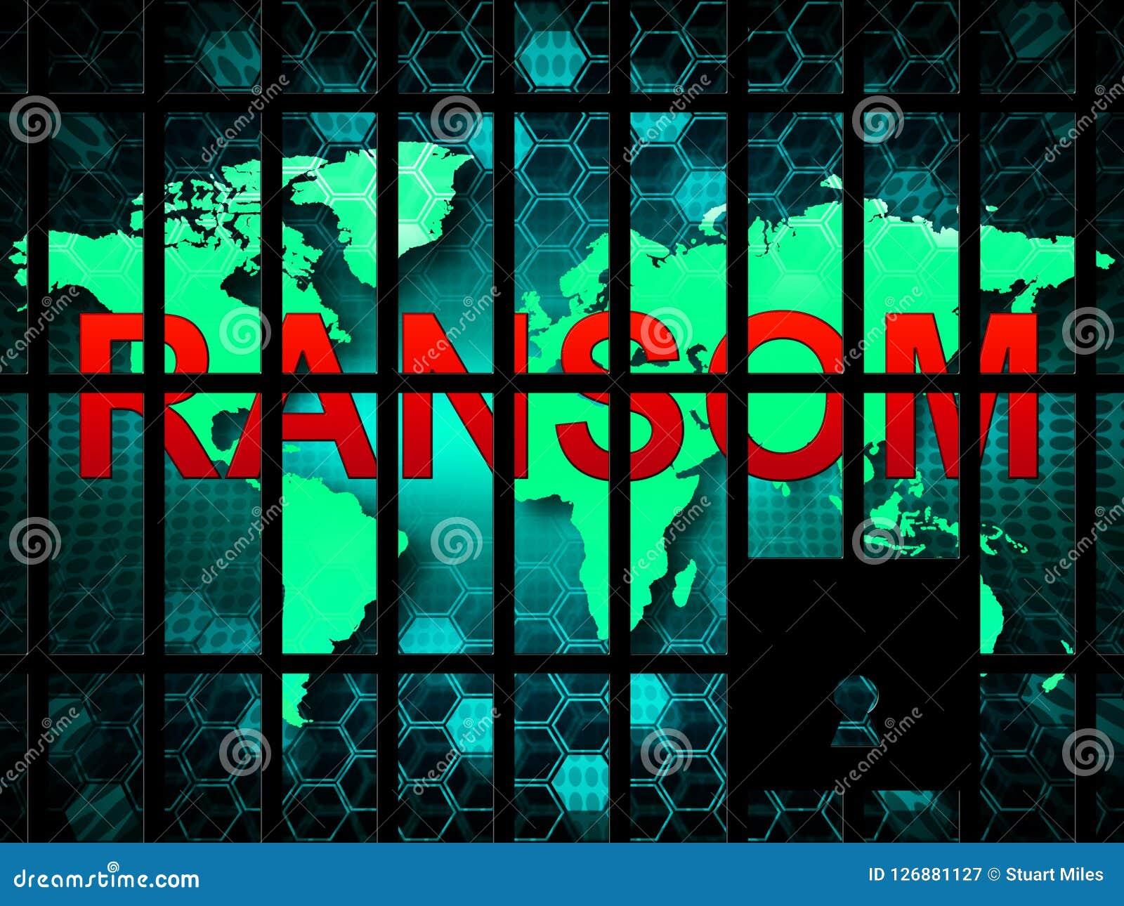 Okupu Komputerowego hackera dane wydarcia 3d ilustracja