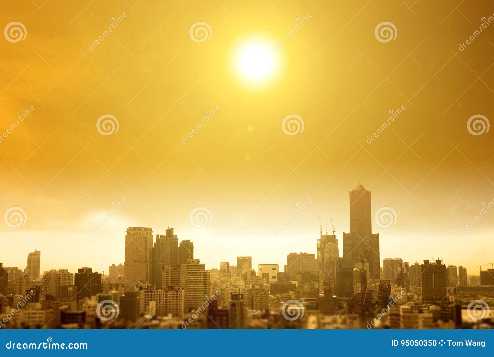 Ola de calor del verano en la ciudad