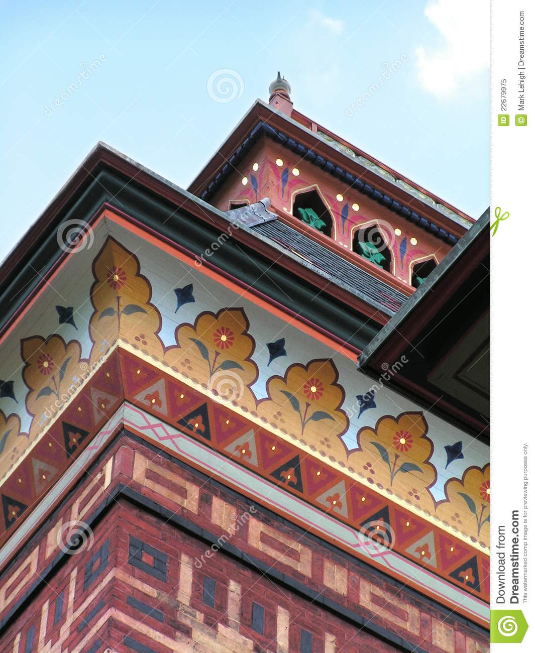 Download Olana eaves stock image. Image of brick, colors, ornate - 22679975