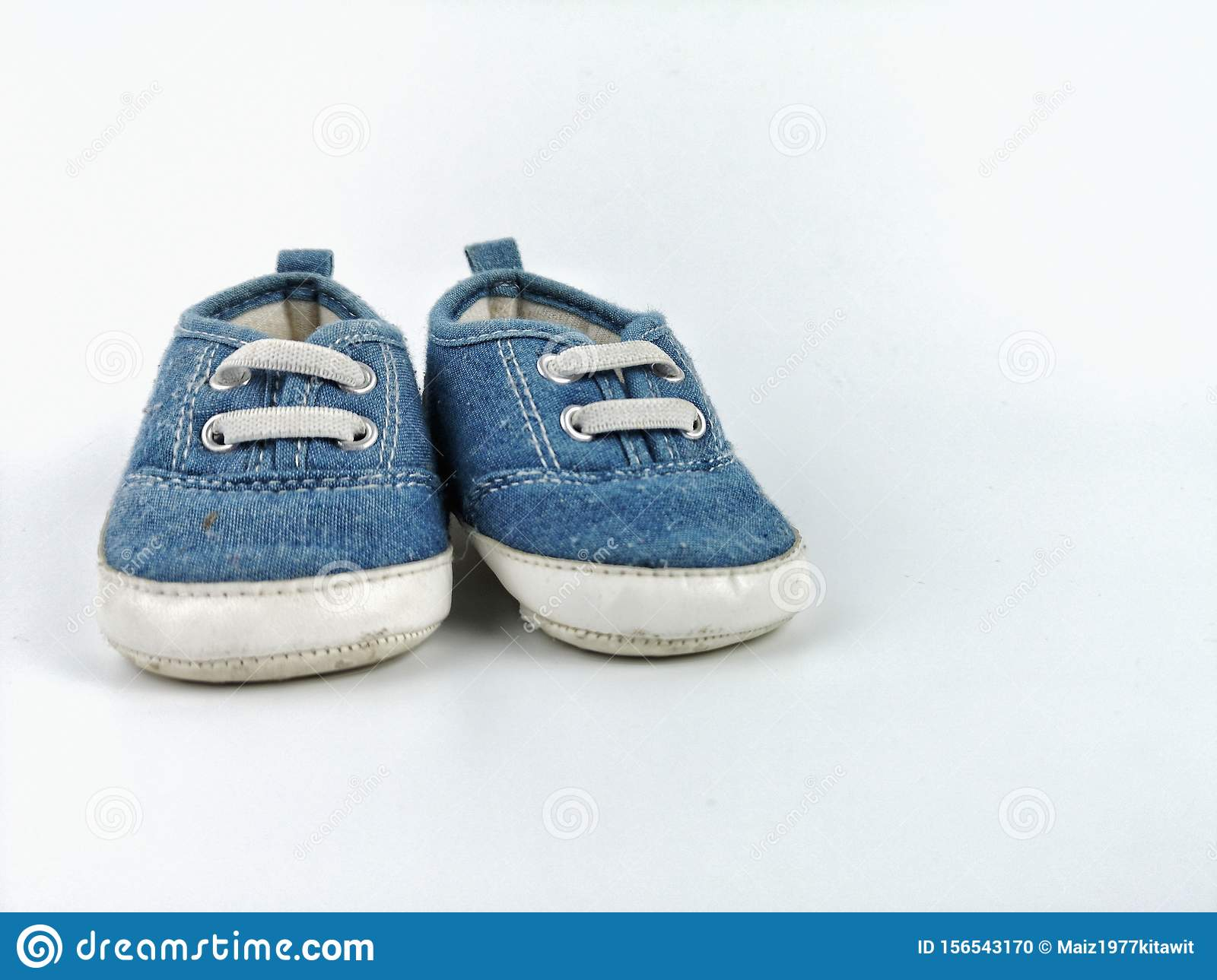 Old Second Hand Blue Shoes Or