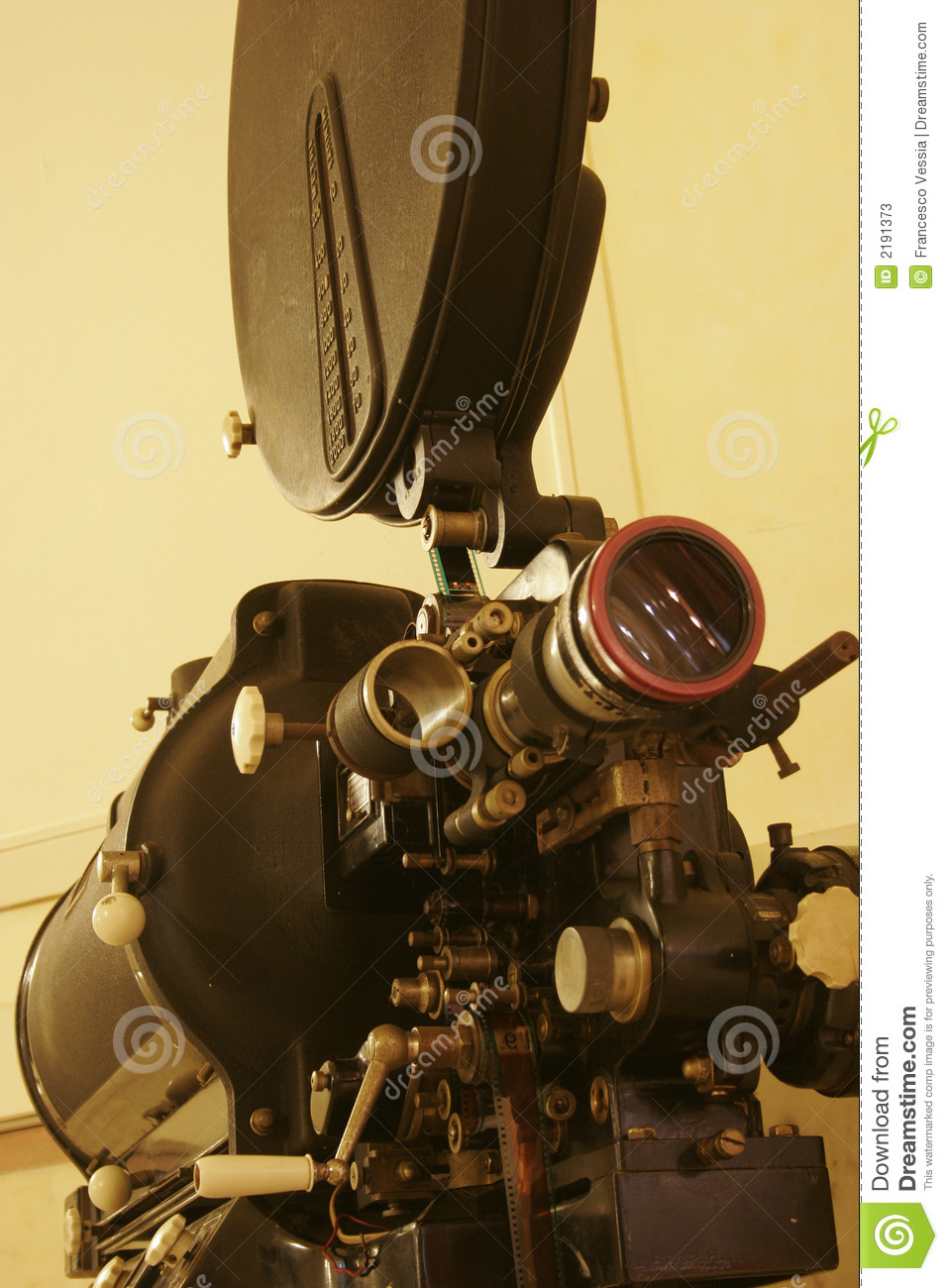 an old 35mm film projector stock photos   image 2191373