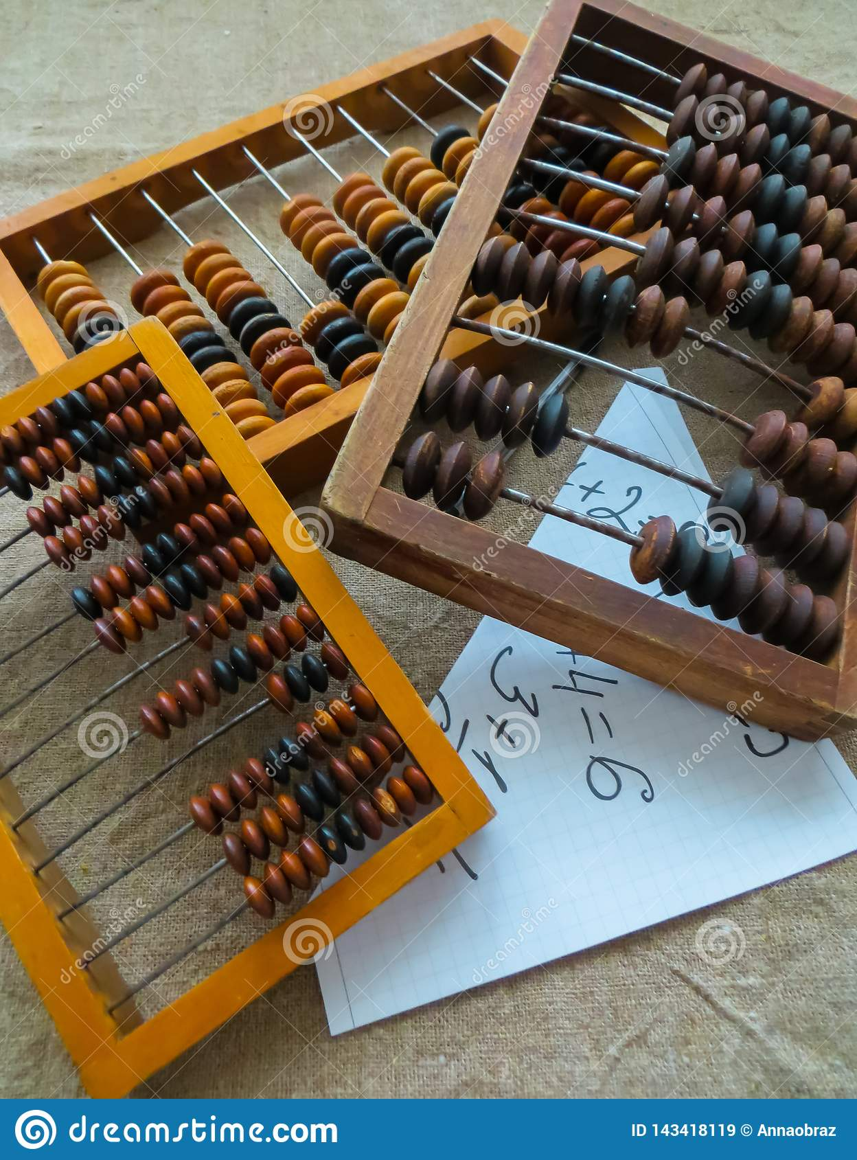 The old abacus, with the help of which produced all mathematical calculations in the middle of the last century