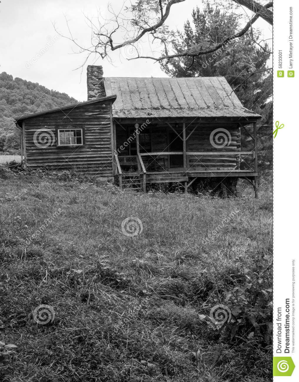 Old abandon log cabin stock photo image 58233001 for Log cabin blue mountains