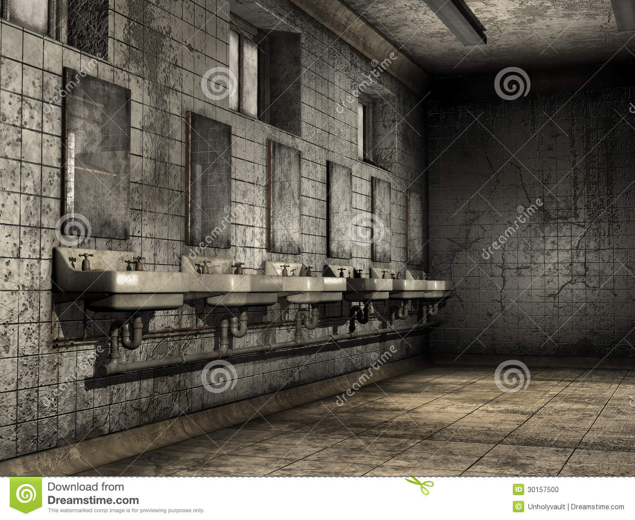 Ruined Bathroom Stock Photo Image 30157500
