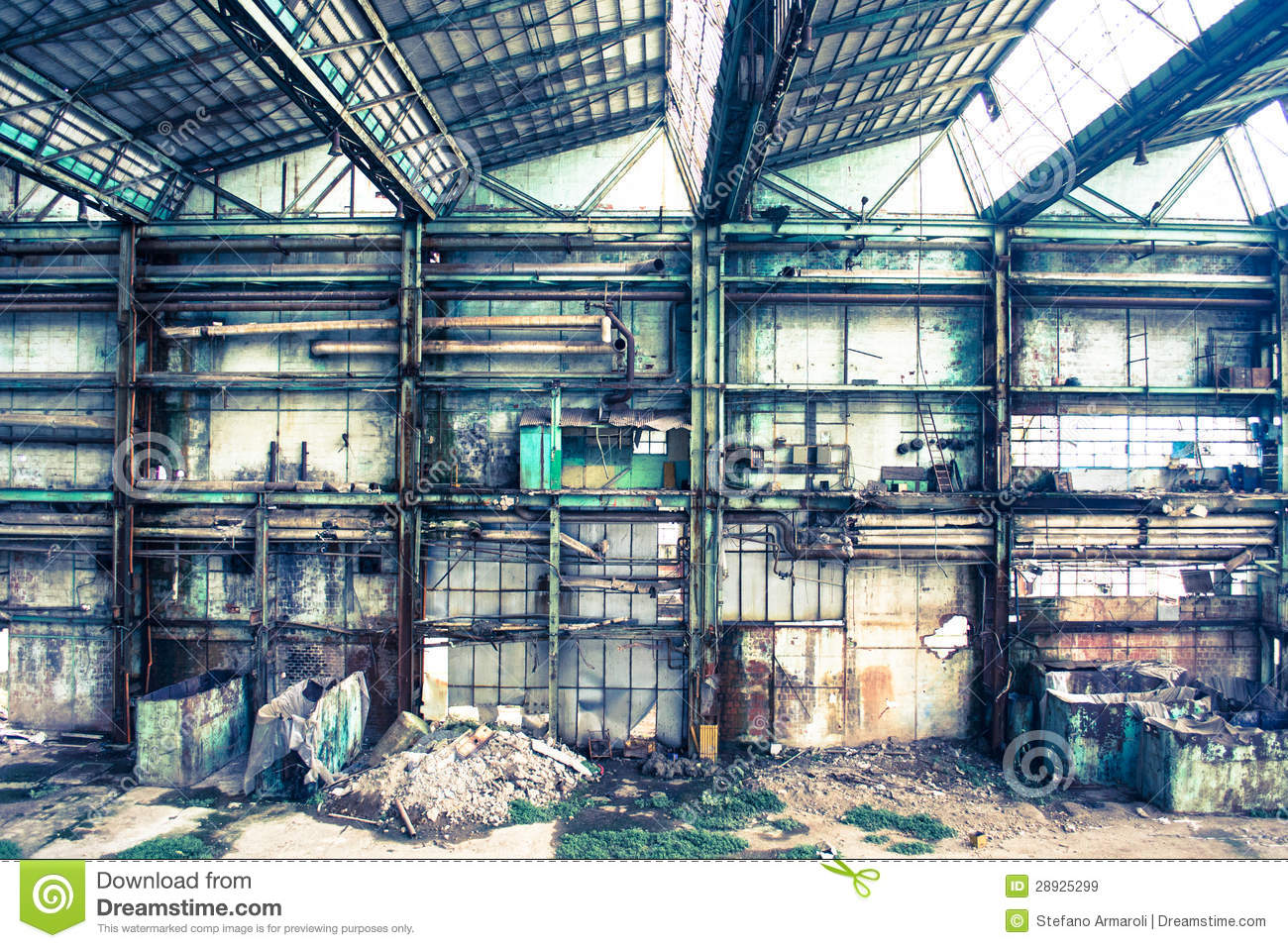 Old Concrete Buildings : Old and abandoned concrete buildings royalty free stock