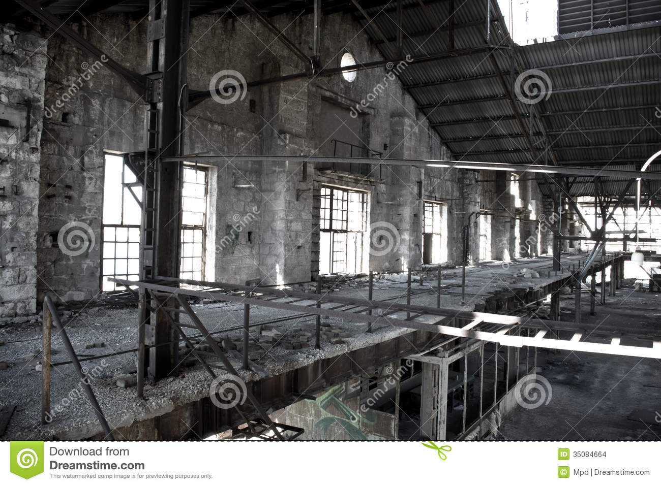 Old Abandoned Factory Stock Images Image 35084664