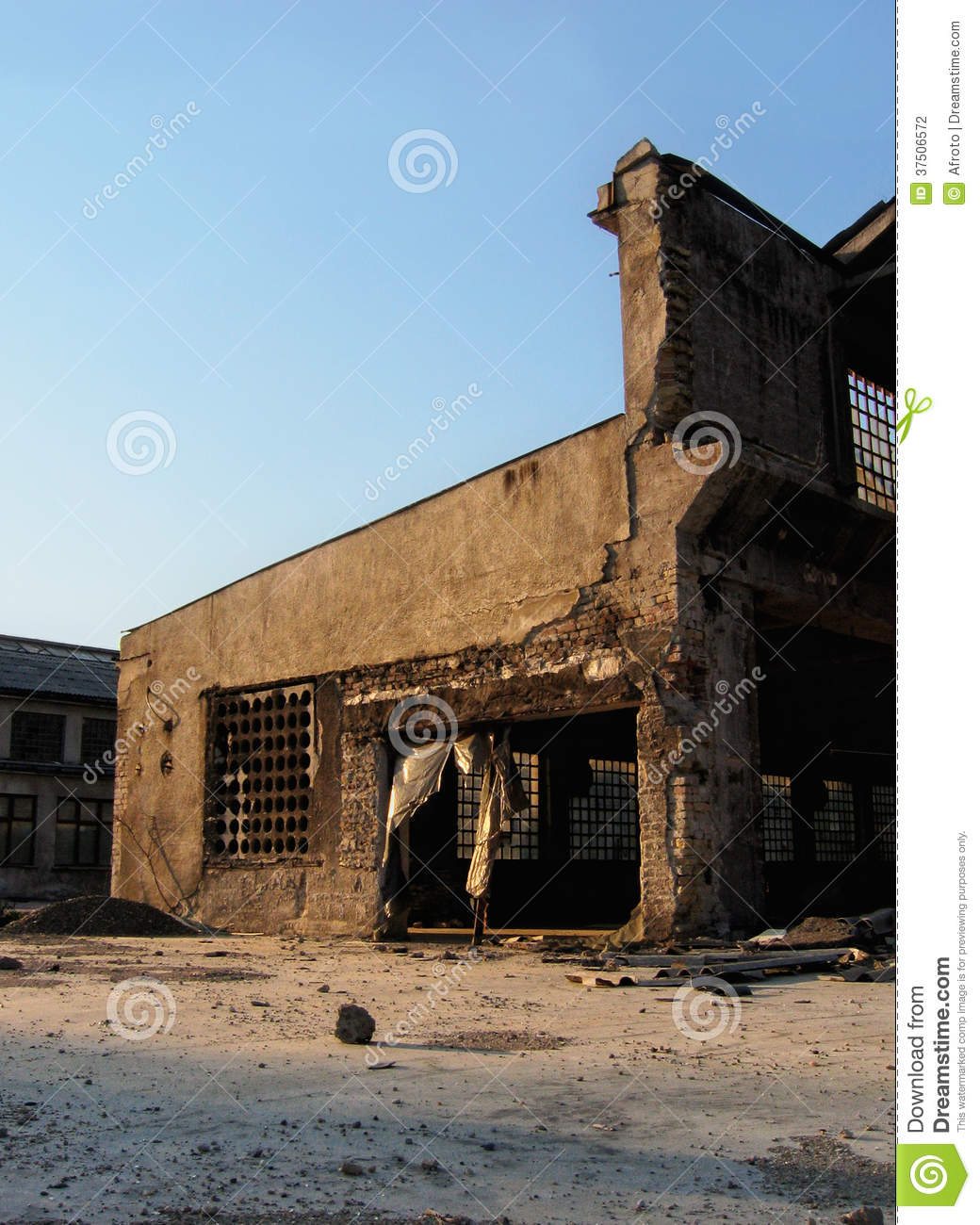 Old Abandoned Factory Stock Photo. Image Of Dirty