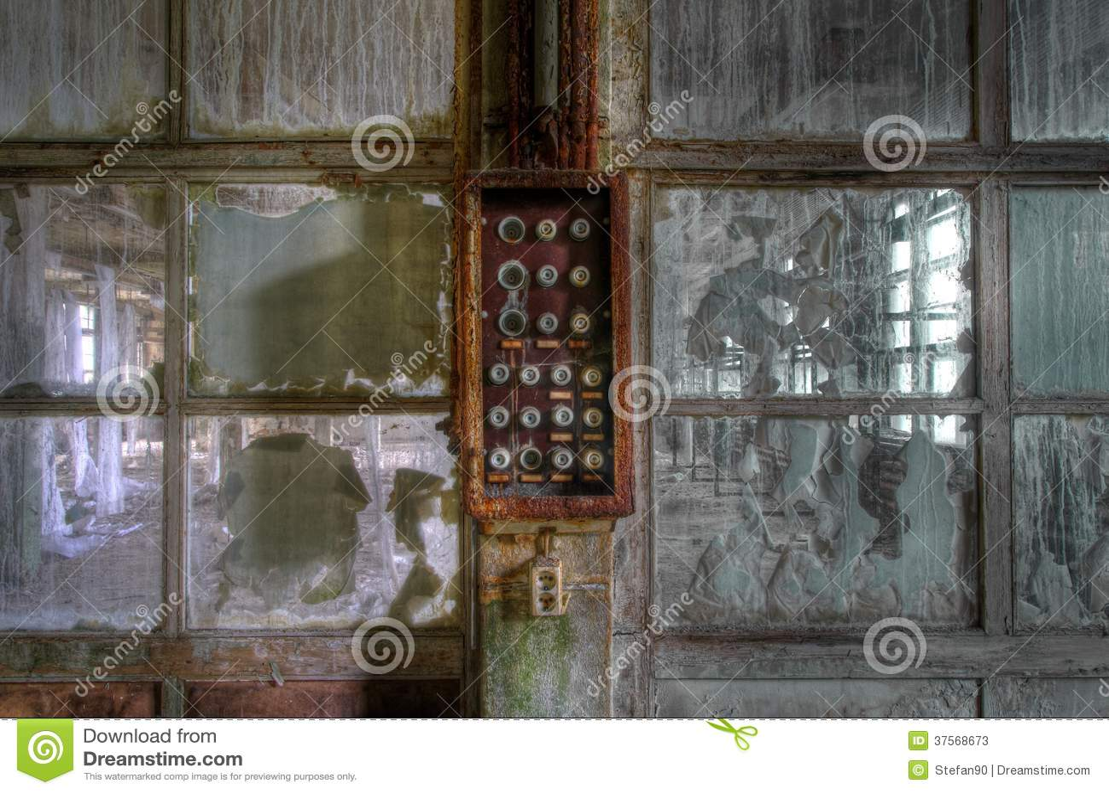 old abandoned fuse box stock image image of panel destroyed 37568673 rh dreamstime com