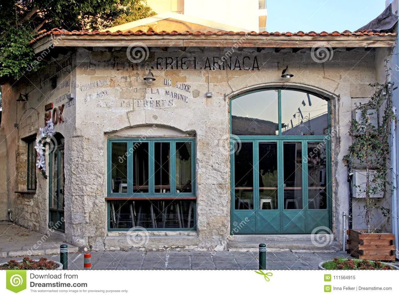 Old abandoned house in the city center in Larnaca, Cyprus.