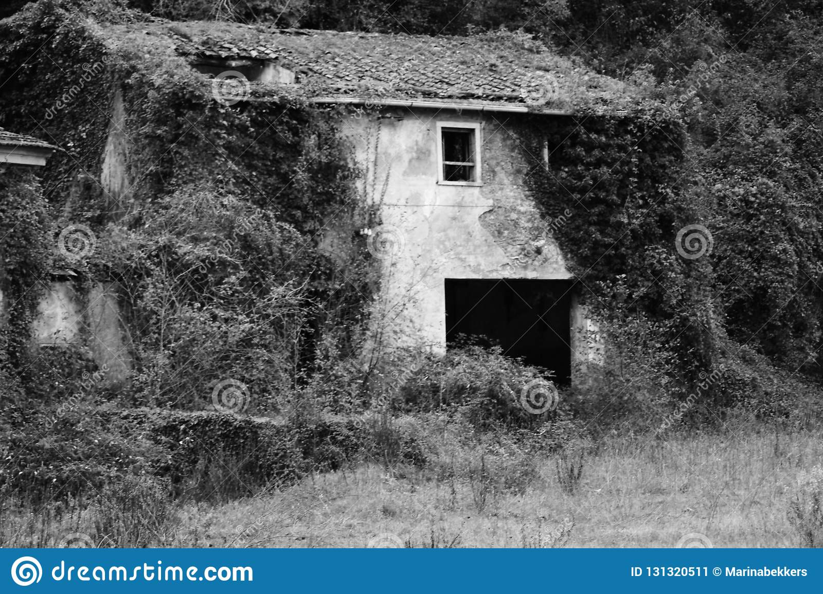 The old abandoned house in the mountains