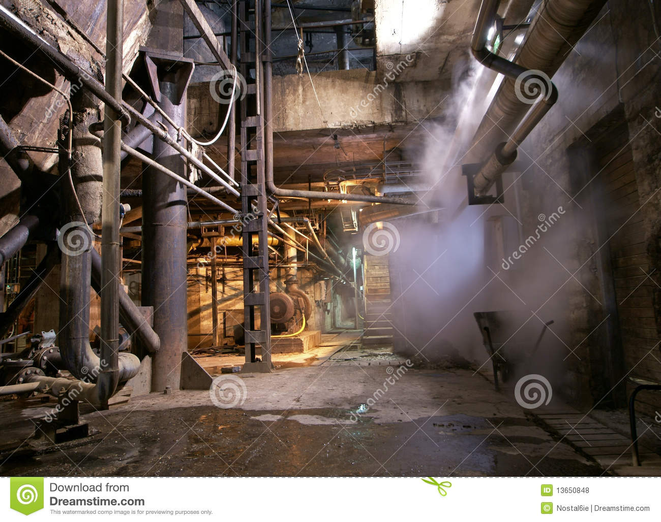 Old Abandoned Industrial Rusty Factory Royalty Free Stock