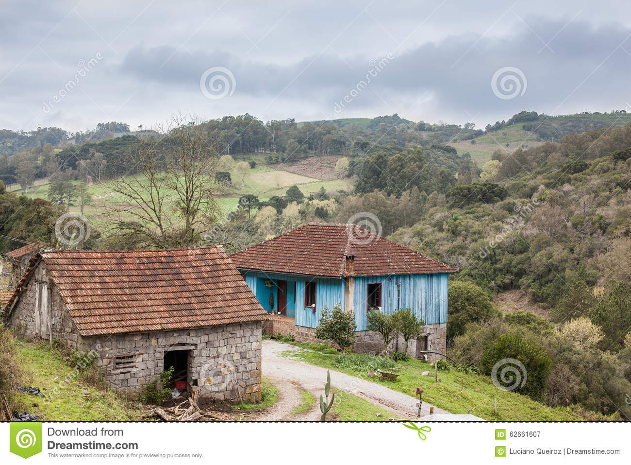 Brazilian Houses An Old Abandoned Stone House At Rio Grande Do Sul Brazil Stock