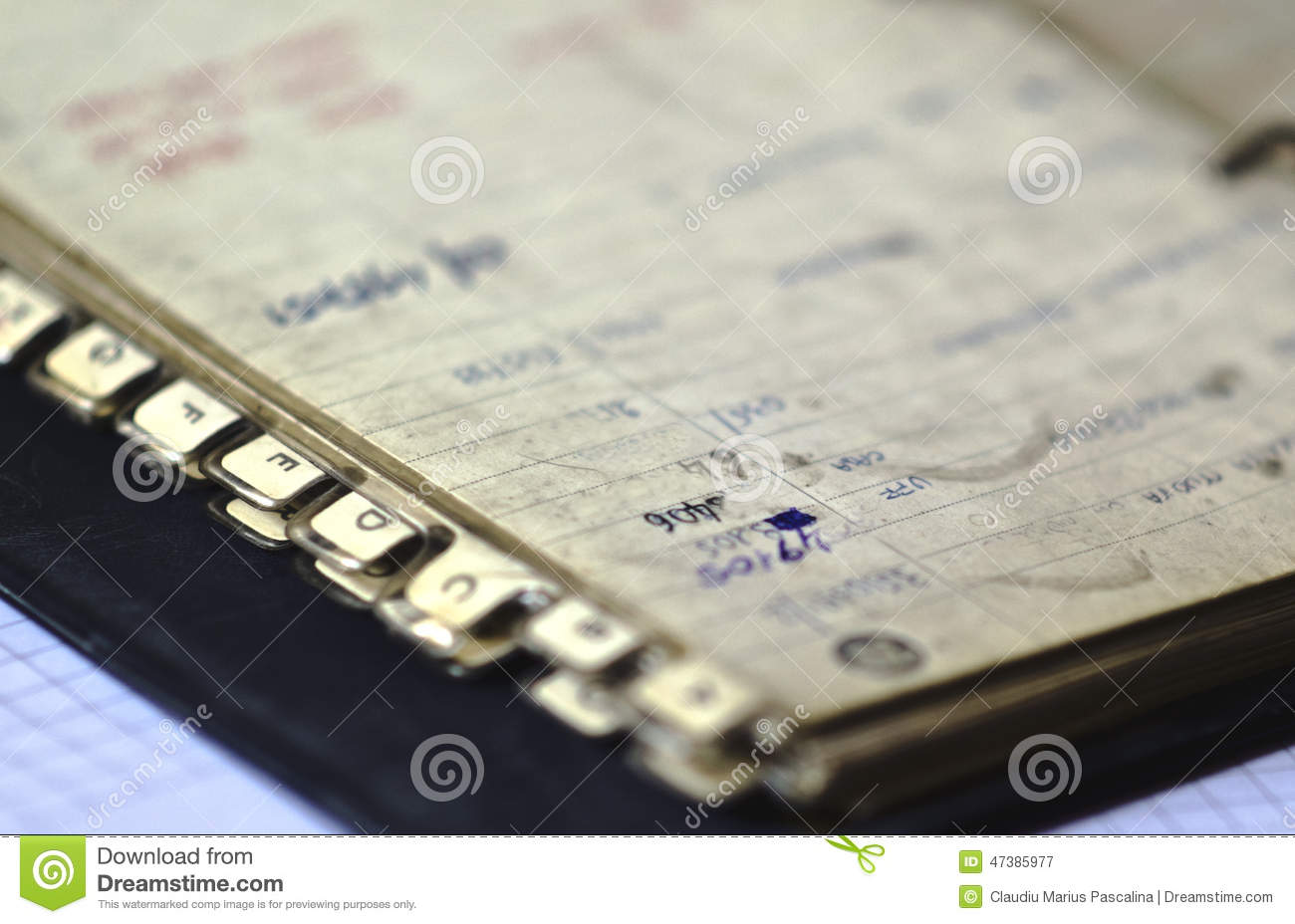old address book stock image image of details contact 47385977