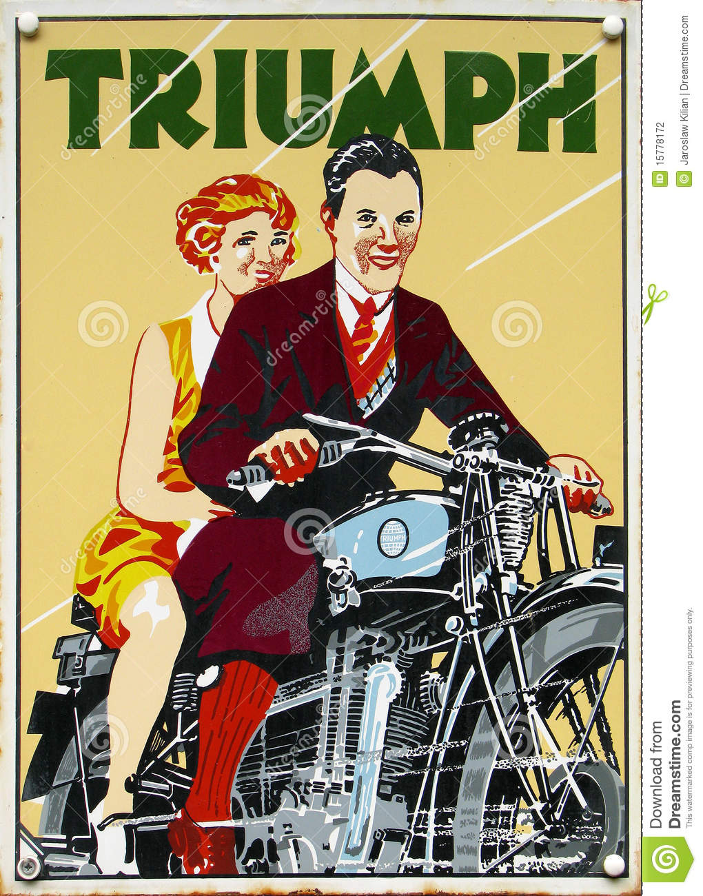 Old Advert Triumph Editorial Photography Image Of