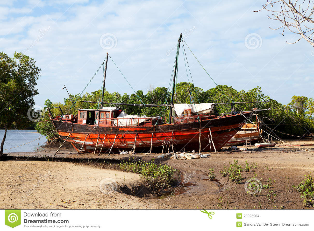 Old African boat on land stock photo. Image of nobody - 20826904