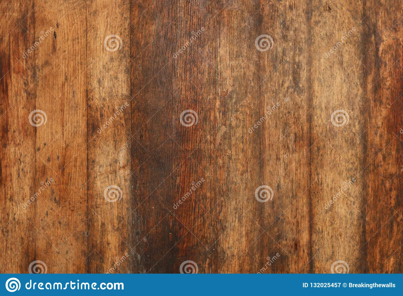 Old Aged Brown Wooden Planks Background Texture Stock Image - Image
