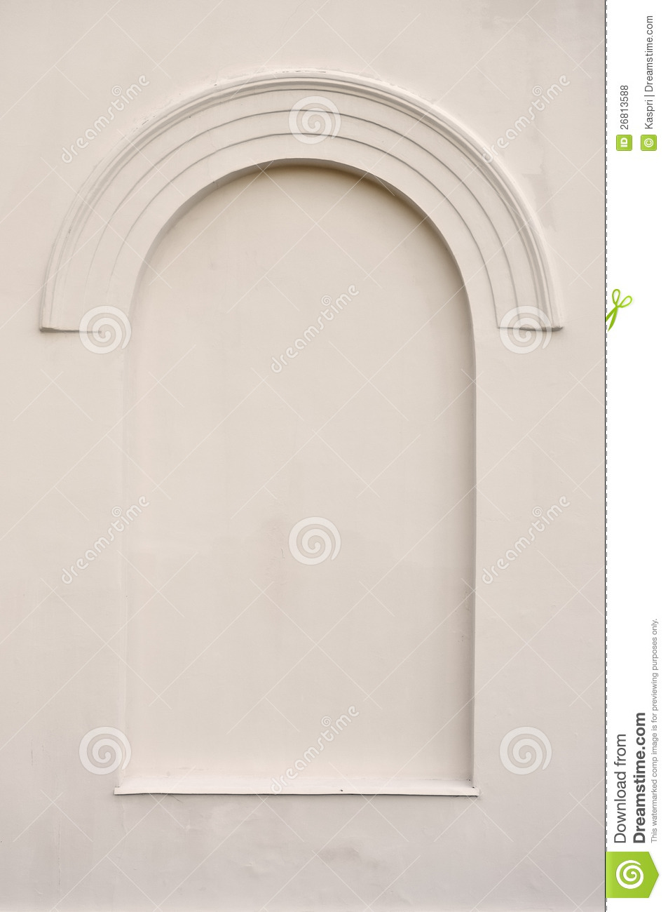 Old Aged Faux Arch False Fake Window Stucco Frame Stock Photo ...