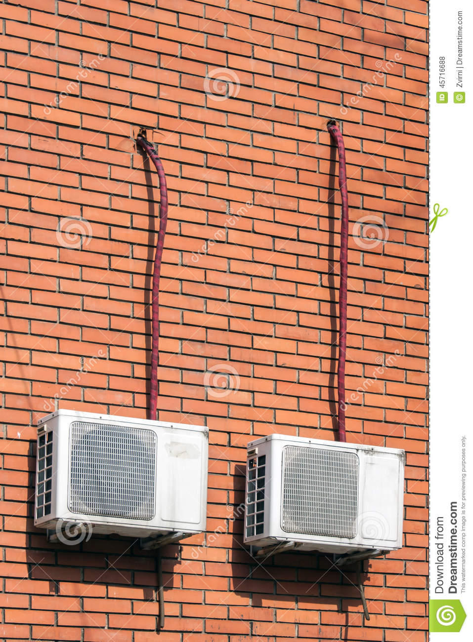 Old air conditioning units