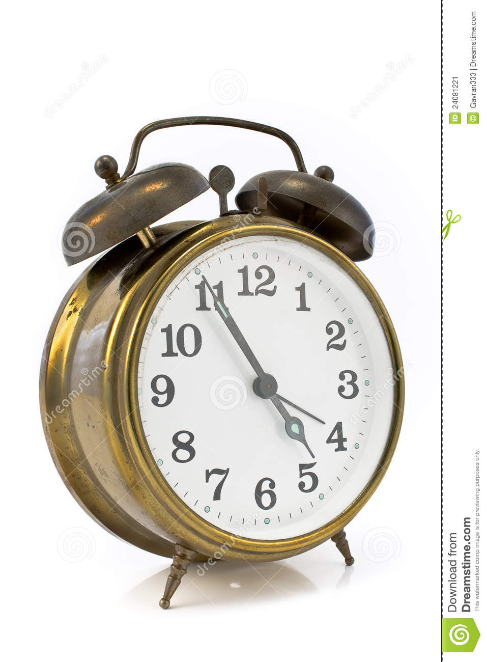 Old Alarm Clock Stock Image - Image: 24081221