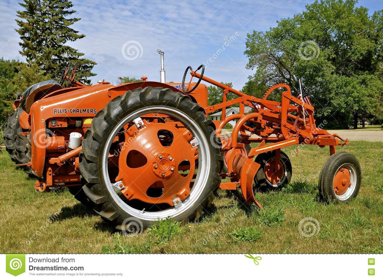 Old Allis Chalmers Tractor With A Belly Blade Download Preview