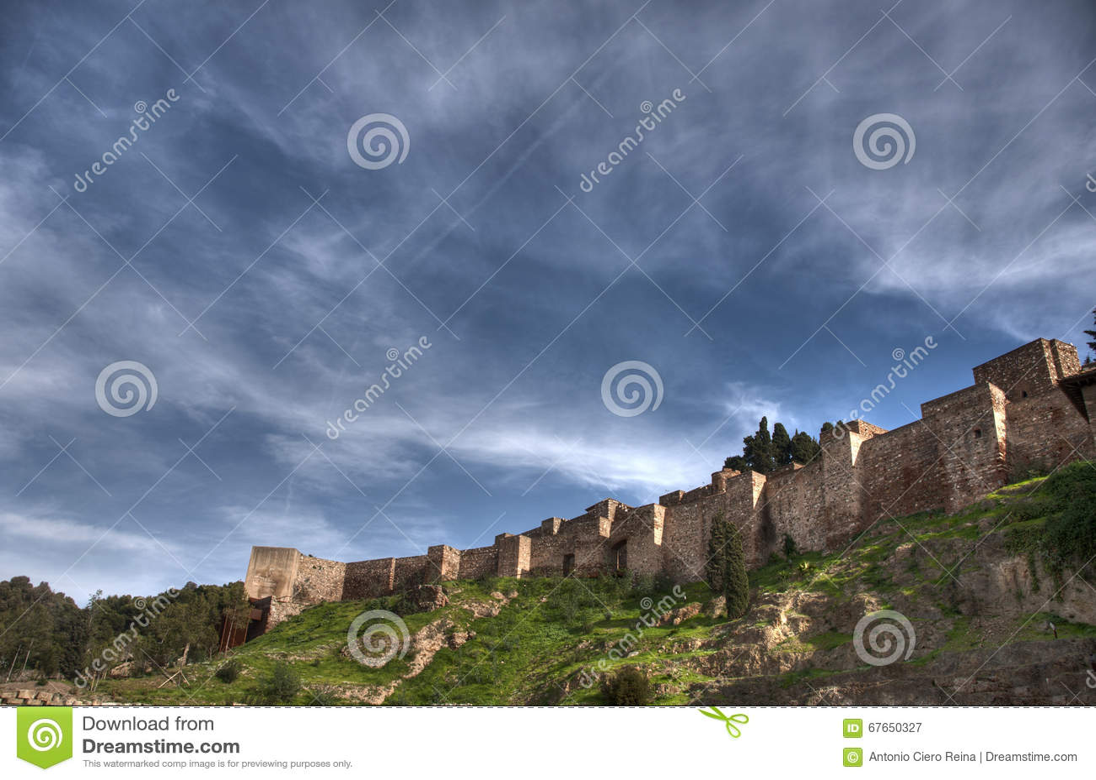 Old Almohad citadel of Malaga, Andalusia