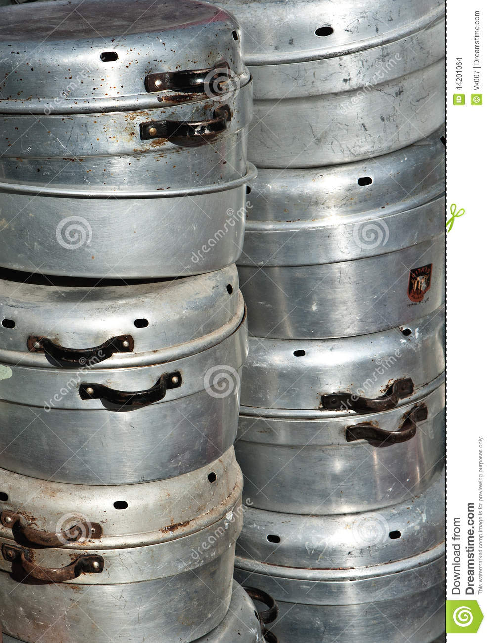 Old Aluminum Cookware Stock Photo Image 44201064