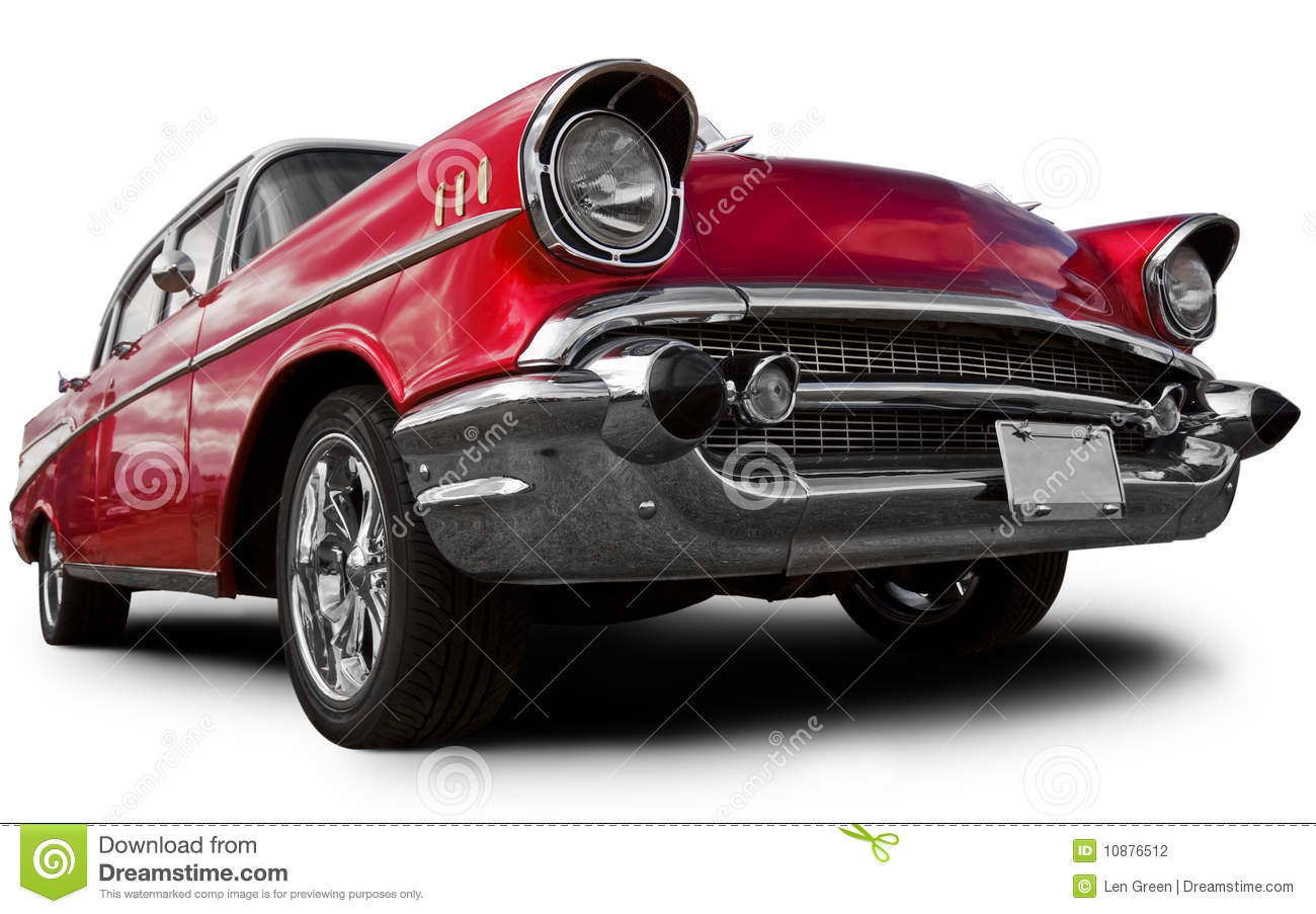 Old American Car Stock Photo. Image Of Show, Side